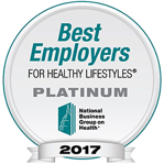 A logo for National Business Group on Health's Best Employers for Healthy Lifestyles award