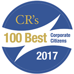 A logo for Corporate Responsibility Magazine's list of 100 best corporate citizens award