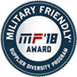 A logo for Military Friendly Supplier Diversity Program award