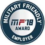 A logo for Military Friendly Brands award