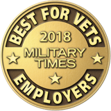 A logo for Military Times Best for Vets Employer award
