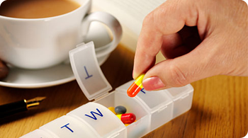 Tracking medications with a pill box
