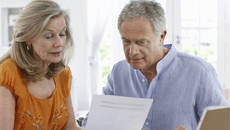 Man and woman reviewing plan