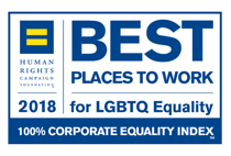 Human Rights Campaign 2018 Best places to work for LGBT equality
