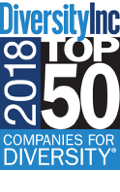 Diversity, Inc 2018 Top 50 company for Diversity